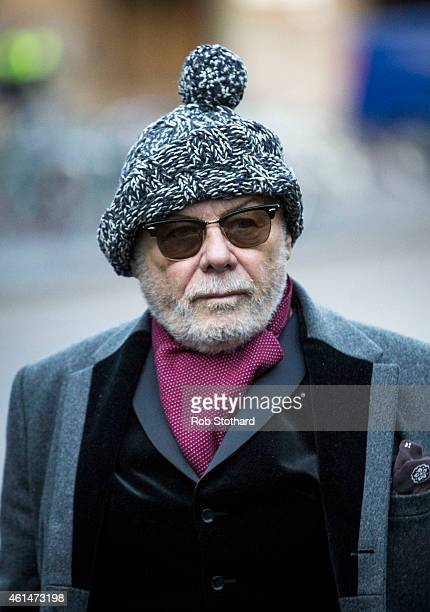 Gary Glitter real name Paul Gadd arrives at Southwark Crown Court on January 13 2015 in London England The former glam rock star is charged with...
