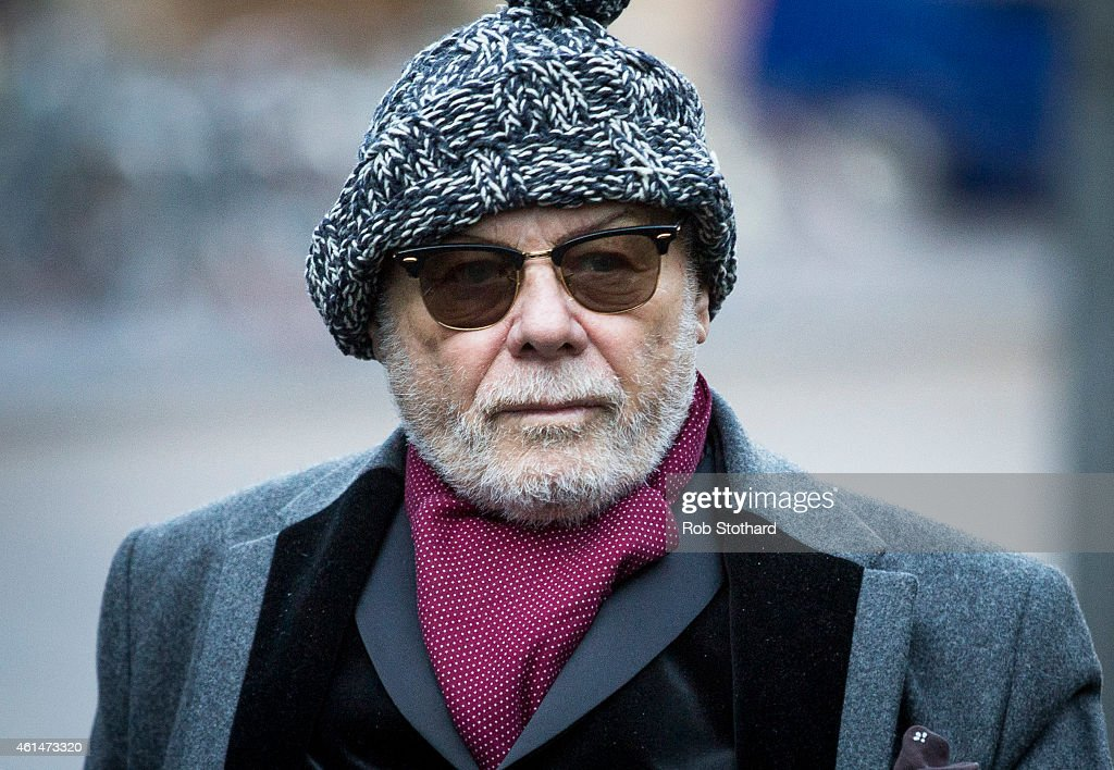 Gary Glitter, real name Paul Gadd, arrives at Southwark Crown Court on January 13, 2015 in London, England. The former glam rock star is charged with several historic sex offences against young girls.