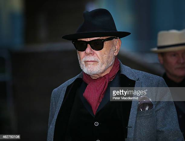 Gary Glitter real name Paul Gadd leaves Southwark Crown Court after the jury retired to consider their verdict on February 4 2015 in London England...