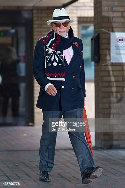Gary Glitter real name Paul Gadd leaves Southwark Crown Court charged with historic sex offences on November 11 2014 in London England