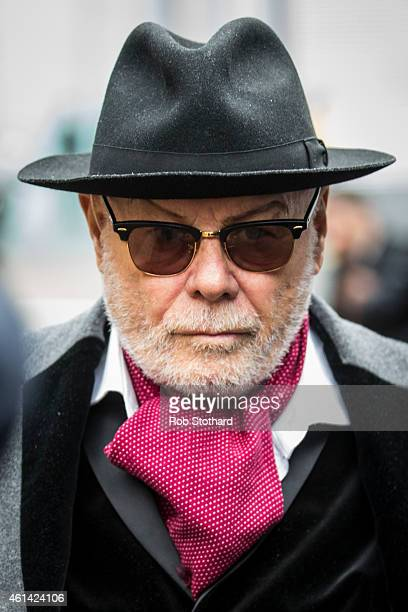 Gary Glitter real name Paul Gadd leaves Southwark Crown Court on January 12 2015 in London England