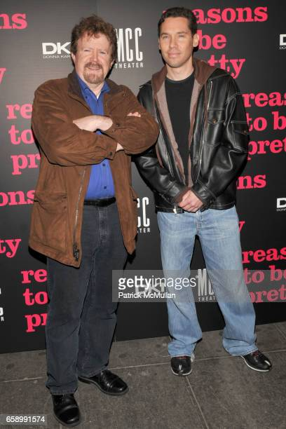 Gary Goddard and Brian Singer attend REASONS TO BE PRETTY Broadway Opening Theatre Arrivals at Lyceum Theatre on April 2 2009 in New York City