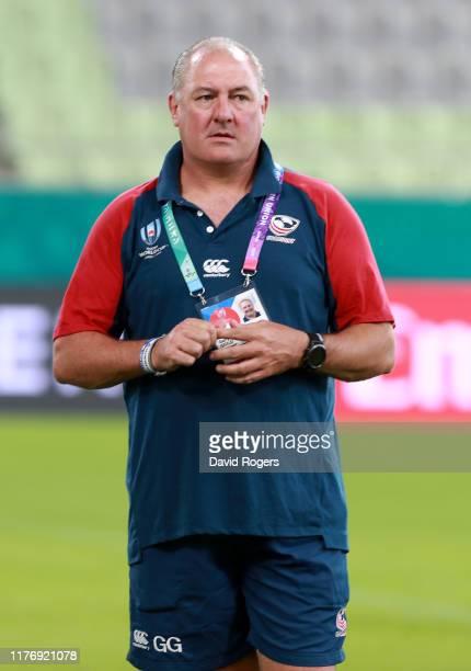 Gary Gold the USA head coach looks on during the USA training session held at Kobe Misaki Stadium on September 25 2019 in Kobe Japan