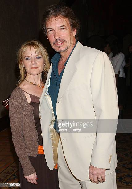 Gary Graham and guest during 'Star Trek Enterprise' Cast and Crew Celebrate the Series Finale at Hollywood Roosevelt Hotel in Hollywood California...