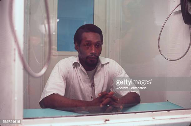 Gary Graham now Shaka Sankofa in the vistor's room of the Terrell Unit where Texas' death row is located Graham is scheduled for execution on 22 June...