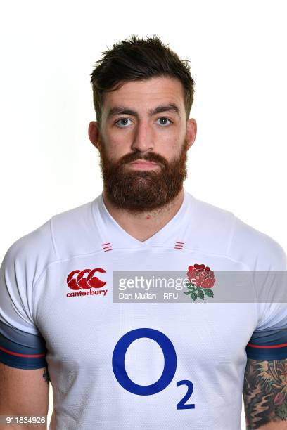 Gary Graham of England poses for a portrait during the England Elite Player Squad Photo call at Pennyhill Park on January 29 2018 in Bagshot England