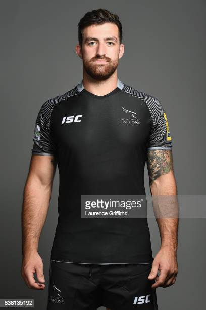 Gary Graham of the Newcastle Falcons poses for a portrait during the Newcastle Falcons photocall at Kingston Park on August 17 2017 in Newcastle upon...