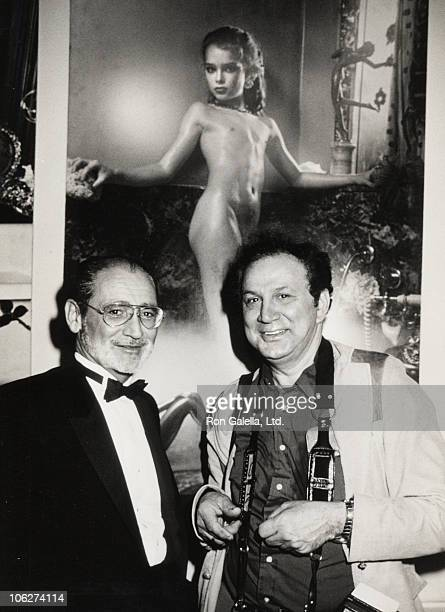 Gary Gross and Ron Galella during Gary Gross Limelight Exhibition June 27 1985 at Limelight Gallery in New York City New York United States
