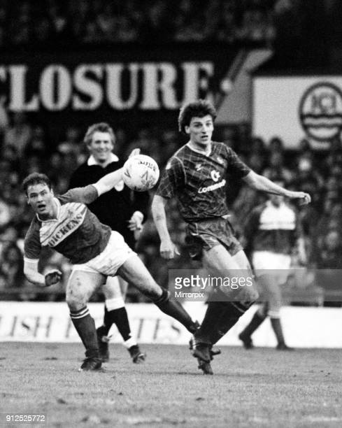 Gary Hamilton follows his shot's path but this one just missed Middlesbrough 2 0 Chelsea 1988 Football League Second Division playoff Final held at...