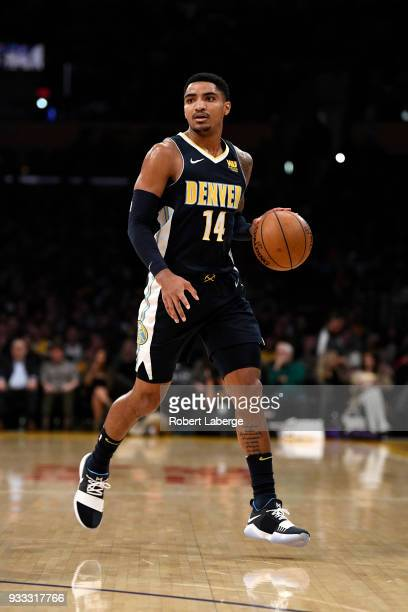 Gary Harris of the Denver Nuggets during the game against the Los Angeles Lakers on March 13 2018 at STAPLES Center in Los Angeles California NOTE TO...