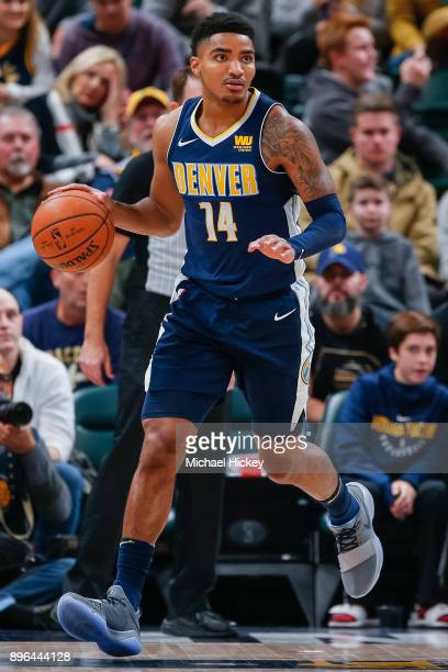 Gary Harris of the Denver Nuggets is seen during the game against the Indiana Pacers at Bankers Life Fieldhouse on December 10 2017 in Indianapolis...