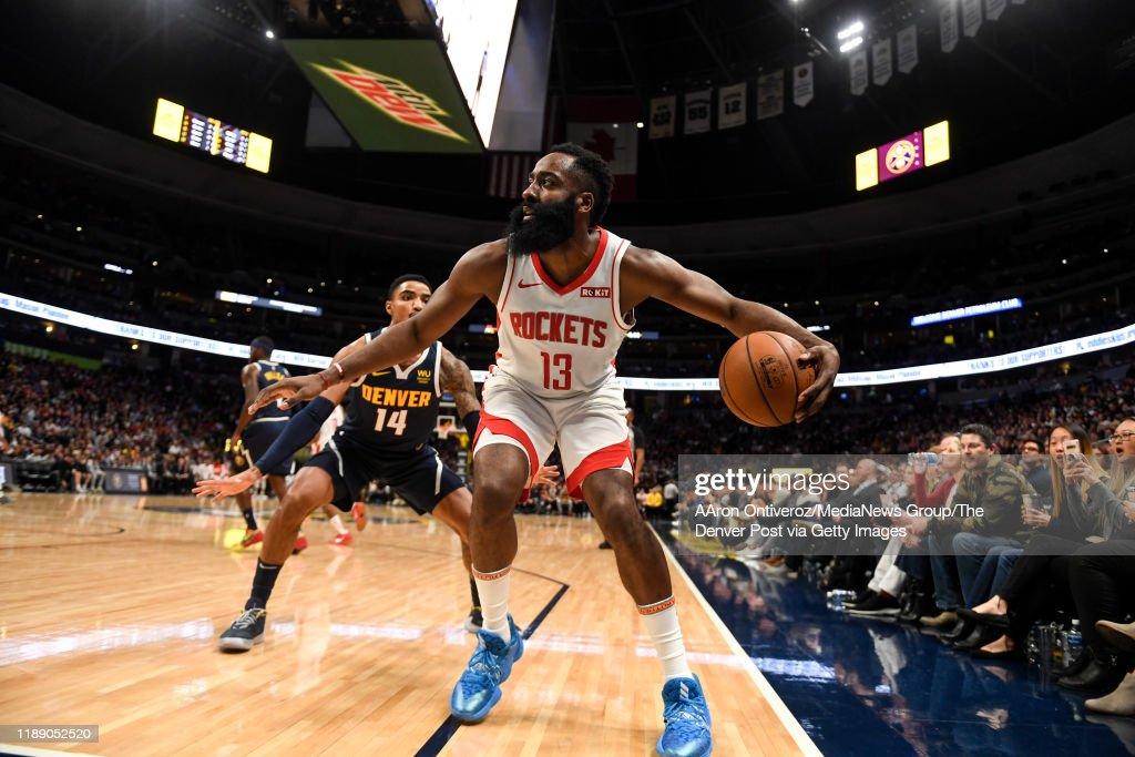 DENVER NUGGETS VS HOUSTON ROCKETS, NBA REGULAR SEASON : News Photo