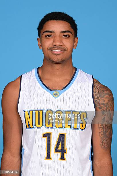 Gary Harris of the Denver Nuggets poses for a head shot during the 20162017 Media Day on September 26 2016 at the Pepsi Center in Denver Colorado...