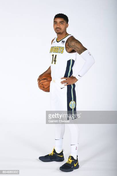 Gary Harris of the Denver Nuggets poses for a photo during media day on September 25 2017 at the Pepsi Center in Denver Colorado NOTE TO USER User...