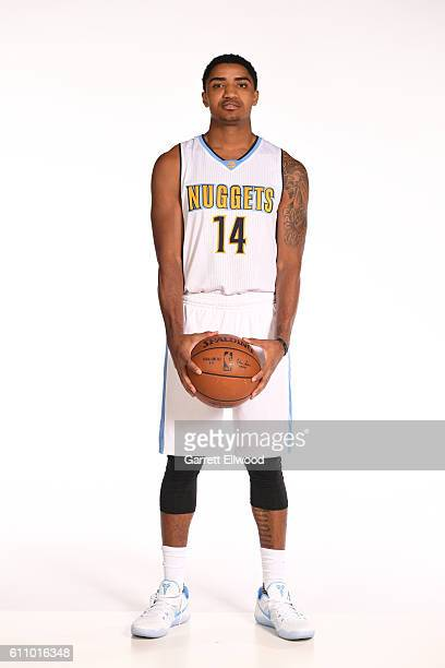 Gary Harris of the Denver Nuggets poses for a portrait during media day on September 26 2016 at the Pepsi Center in Denver Colorado NOTE TO USER User...