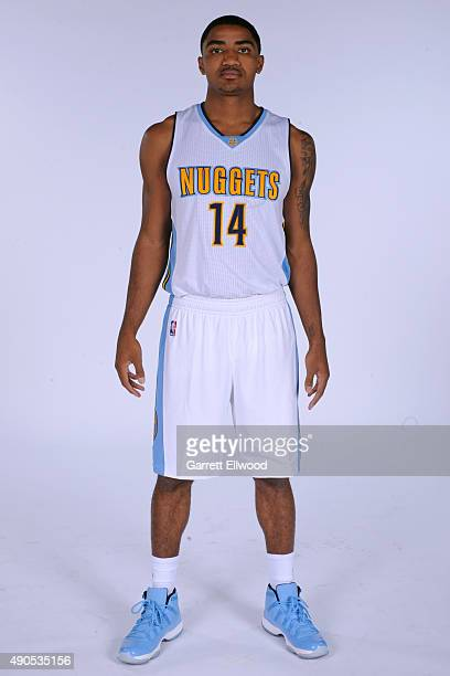 Gary Harris of the Denver Nuggets poses for a portrait on September 28 2015 at the Pepsi Center in Denver Colorado NOTE TO USER User expressly...