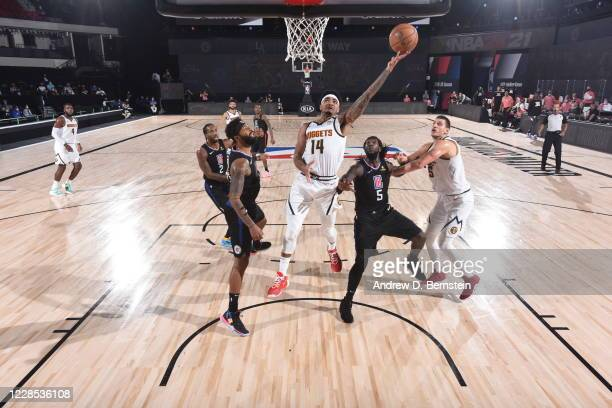 Gary Harris of the Denver Nuggets shoots the ball against the LA Clippers during Game Seven of the Western Conference Semifinals on September 13,...
