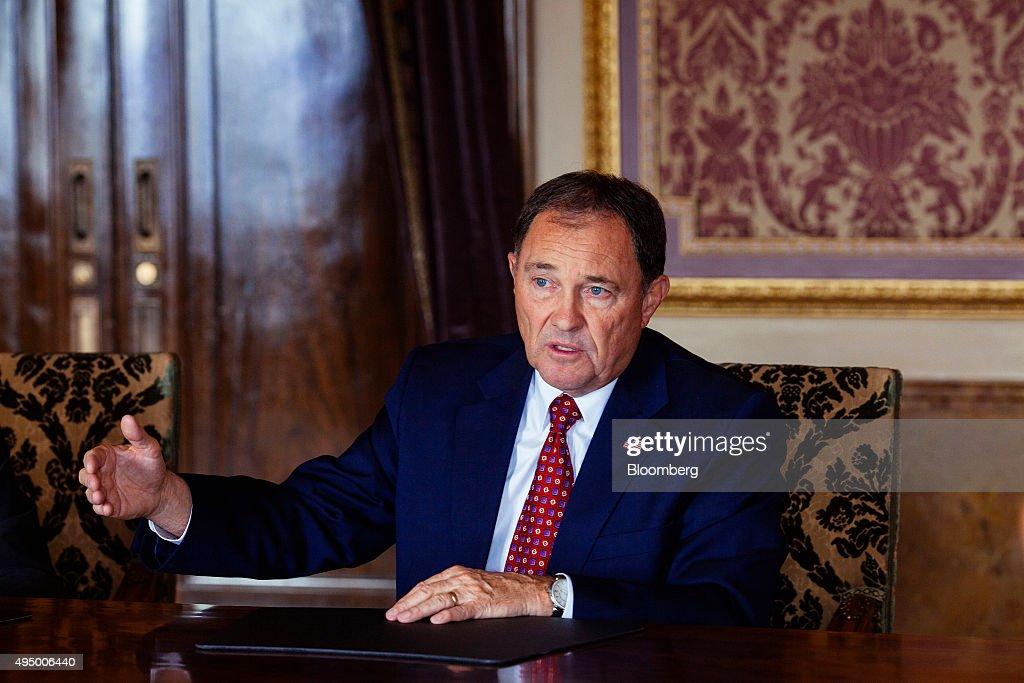 Utah Governor Gary Herbert Interview : News Photo