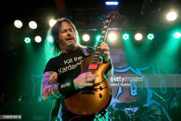 Jack Gibson Lee Altus and Tom Hunting of Exodus perform at Slim's on September 18 2018 in San Francisco California