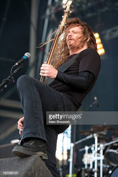 Gary Holt of Exodus performs onstage at Hellfest Festival on June 20 2010 in Clisson France