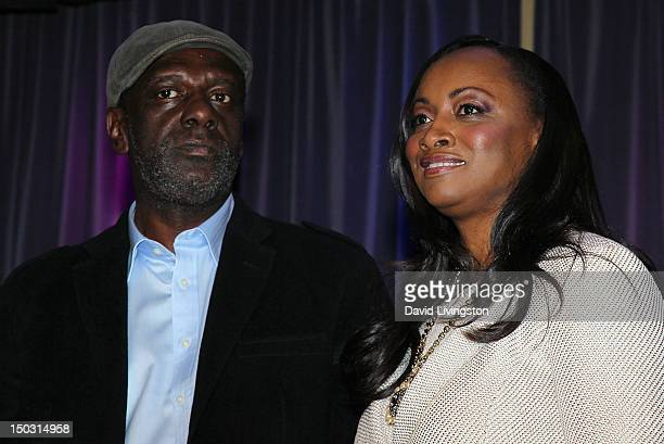 Gary Houston and Pat Houston attend the GRAMMY Museum press event for Whitney Celebrating the Musical Legacy of Whitney Houston at The GRAMMY Museum...