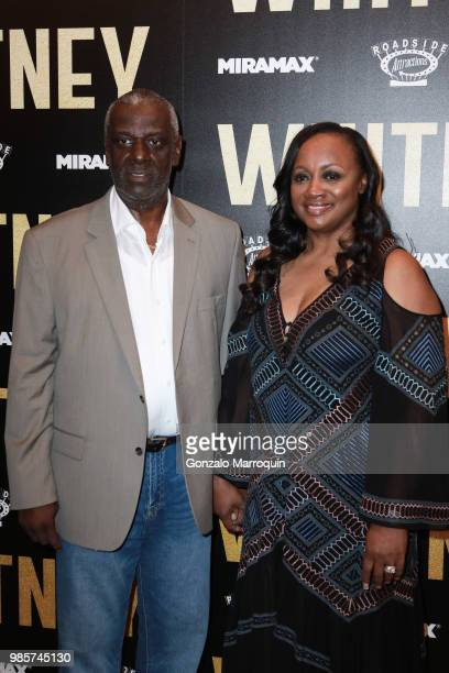 Gary Houston and Pat Houston during the Whitney New York Screening Arrivals at the Whitby Hotel on June 27 2018 in New York City