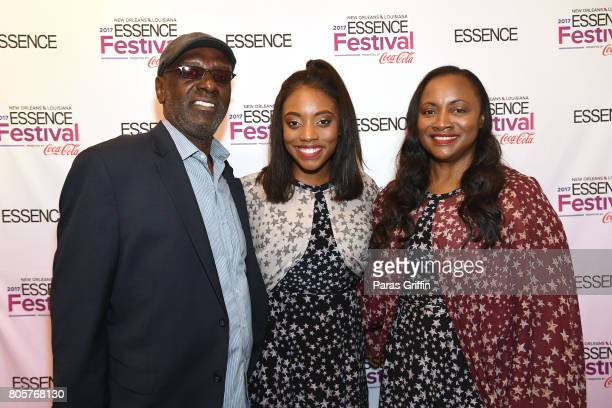 Gary Houston Rayah Houston and Pat Houston pose backstage at the 2017 ESSENCE Festival presented by CocaCola at Ernest N Morial Convention Center on...