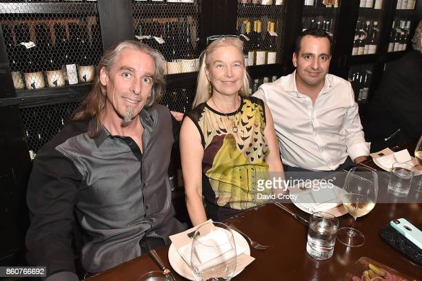 Gary Irving Nell Newman and Paul Boutros attend the Phillips Los Angeles October Highlights Dinner on October 12 2017 in Los Angeles California