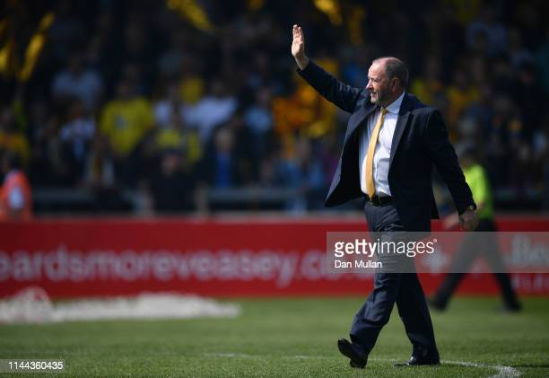 Gary Johnson, Manager of Torquay United acknowledges the fans prior to the Vanarama National League South match between Torquay United and Hungerford...