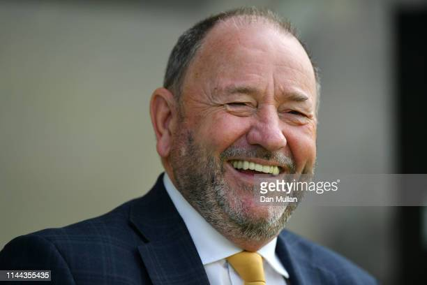 Gary Johnson, Manager of Torquay United smiles prior to the Vanarama National League South match between Torquay United and Hungerford Town at...
