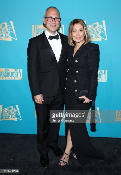 Gary Jones and 20th Century Fox Film Chairman and CEO Stacey Snider attend the Fox Searchlight And 20th Century Fox Oscars PostParty on March 4 2018...
