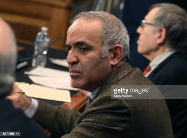 Gary Kasparov Chairman of the Human Rights Foundation participates in a Commission on Security and Cooperation in Europe hearing focusing on the...