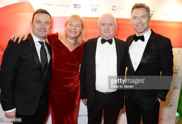 Gary Keating Linda Keating Gerry Keating and Ronan Keating attend the 12th annual Emeralds Ivy Ball in aid of Cancer Research UK and The Marie...
