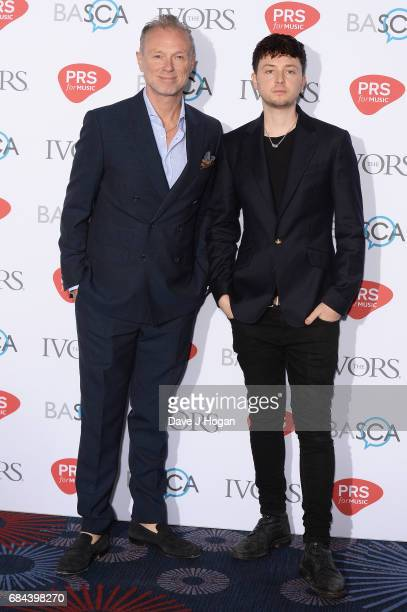 Gary Kemp and Finlay Kemp attend the Ivor Novello Awards at Grosvenor House on May 18 2017 in London England