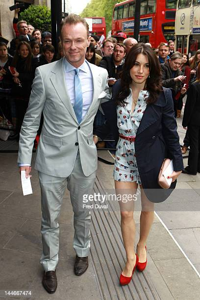Gary Kemp and Lauren Barber attend the Ivor Novello awards that honours songwriters composers and music publishers at Grosvenor House on May 17 2012...