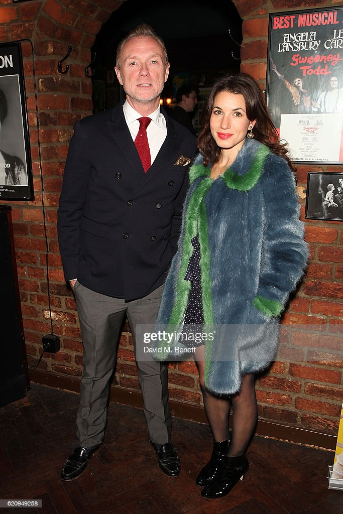 Gary Kemp and Lauren Barber attend the press night after party for 'Dead Funny' at Joe Allen Restaurant on November 3, 2016 in London, England.