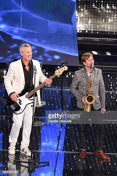 Gary Kemp and Steve Norman attend the thirth night of 65th Festival di Sanremo 2015 at Teatro Ariston on February 12 2015 in Sanremo Italy