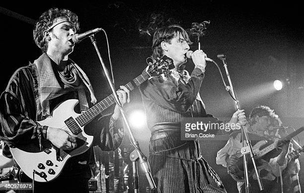Gary Kemp and Tony Hadley performing with Spandau Ballet at the Sundown Theatre Charing Cross Road London 18th March 1981