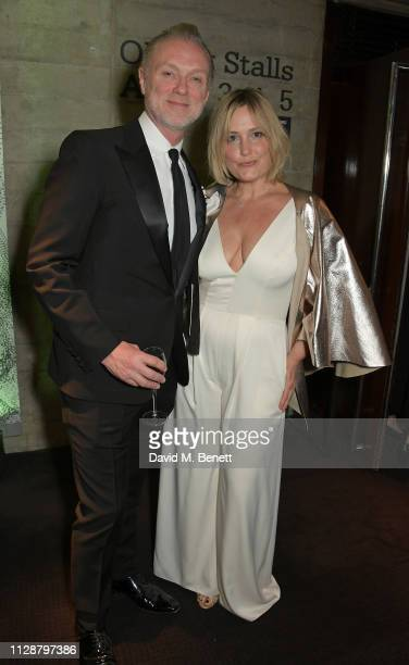 Gary Kemp andm Mika Simmons attend Up Next 2019 The National Theatre's Biennial Fundraising Gala at The National Theatre on March 5 2019 in London...