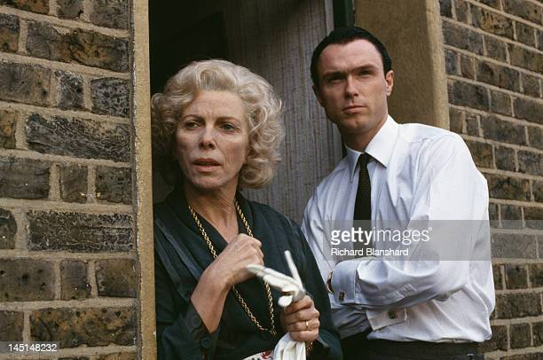 Gary Kemp, as British gangster Ronnie Kray, and Billie Whitelaw as his mother Violet, in a scene from 'The Krays', directed by Peter Medak, 1990.