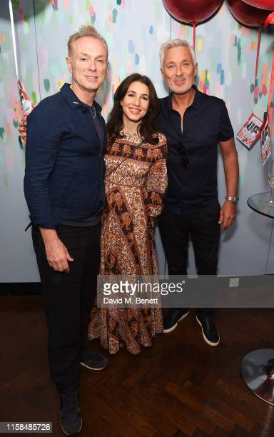 Gary Kemp Lauren Barber and Martin Kemp attend a party to celebrate the upcoming release of Vick Hope and Roman Kemp's new children's book 'Listen...