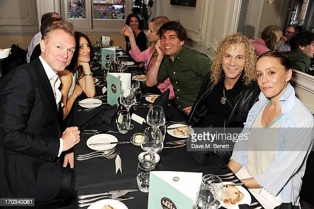 Gary Kemp Lauren Kemp Alex James Bon Jovi keyboardist David Bryan and Kate Spicer attend a private dinner previewing the new 'Alex James Presents'...