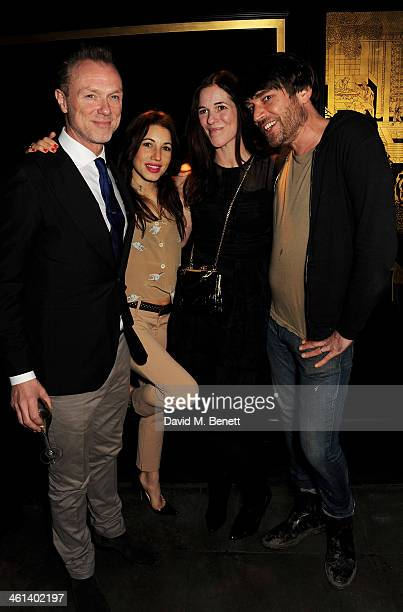 Gary Kemp Lauren Kemp Claire James and Alex James attend the London Collections Men closing dinner hosted by Dylan Jones and Anya Hindmarch at...