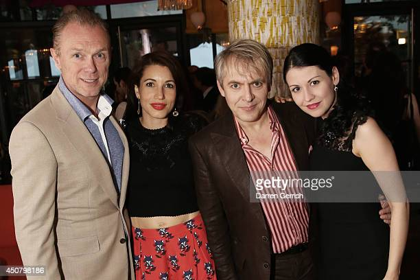 Gary Kemp Lauren Kemp Nick Rhodes and Nefer Suvio attends the GQ and LCM Party during the London Collections Men SS15 on June 17 2014 in London...
