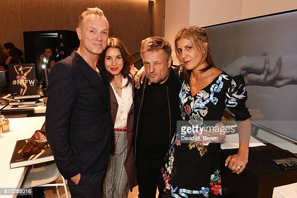 Gary Kemp Lauren Kemp Rankin and Azzi Glasser attend the launch of 'SX Rankin' a new fragrance collaboration between photographer Rankin and...