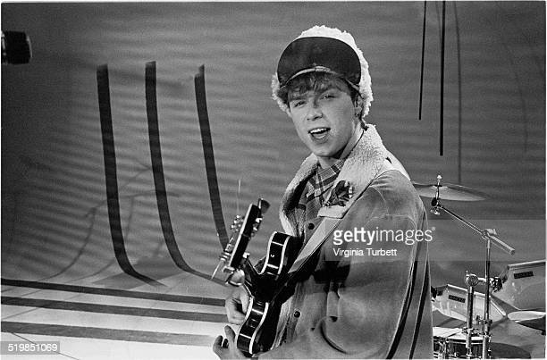 Gary Kemp of Spandau Ballet during a video shoot for their single 'Instinction' 12th March 1982