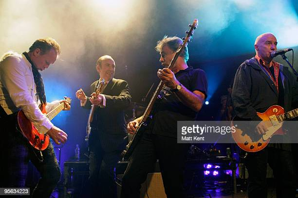 Gary Kemp of Spandau Ballet Mick Jones of Carbon Silicon perform with Glen Matlock and Midge Ure of Rich Kids at O2 Academy Islington on January 7...