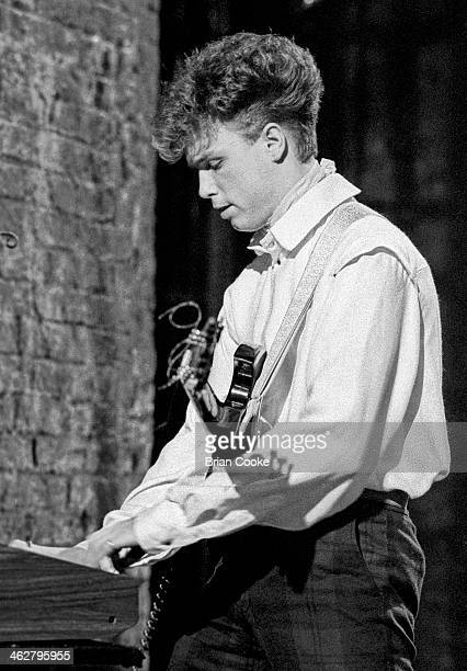 Gary Kemp of Spandau Ballet performing at The London Dungeon Tooley Street London during the filming of a pop video for Chrysalis Records for their...