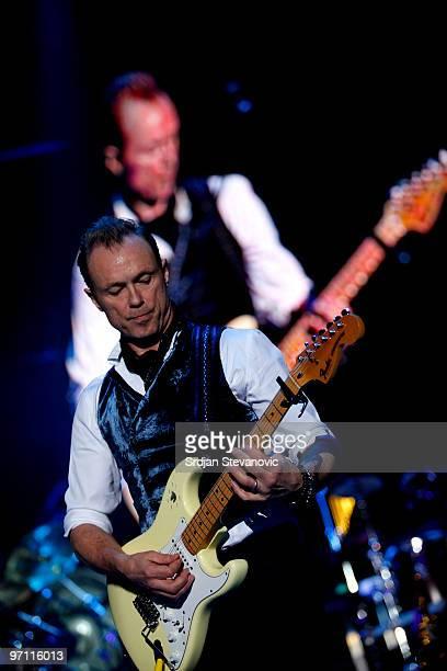 Gary Kemp of Spandau Ballet performs at the Belgrade Arena on February 26 2010 in Belgrade Serbia