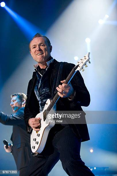Gary Kemp of Spandau Ballet performs at the Palau Olimpic on March 12 2010 in Badalona Spain